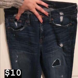 Ripped J Crew Jeans Sz 30